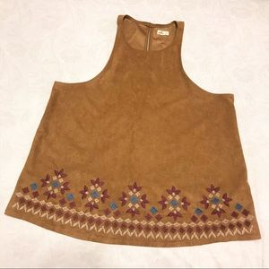 Brown, suede sleeveless top!!